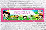 Personalized Ni Hao Kai Lan Banner - Includes Color Border Mat, With Your Name On It, Party Door Poster, Room Art Decoration - Customize
