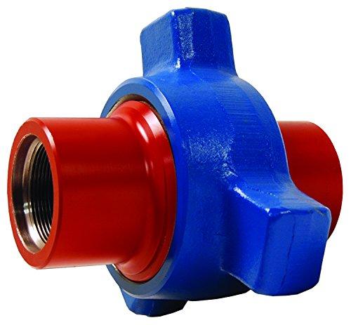Dixon HU1502200 Steel Hammer Union, Threaded 1502 Series, Red Sub, Blue Nut, 2'' ID, Forged Steel