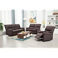 BestMassage Recliner Sofa set 3PCS motion loveseat living room sectional reclining,sofa leather chair