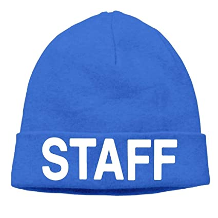 6b5981031f1 Image Unavailable. Image not available for. Color  ACD TV Men s Staff Warm  Travel RoyalBlue Beanies ...