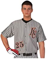 Rawlings Youth Full Button Pinstriped RYBBJ95 Jersey