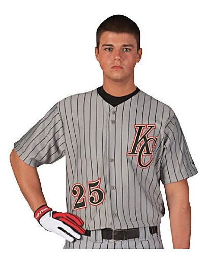 low priced dfdaa 6a05f Amazon.com : Rawlings Youth Full Button Pinstriped RYBBJ95 ...