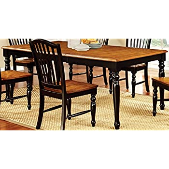Furniture Of America Antha Country Style Duo Tone Dining Table