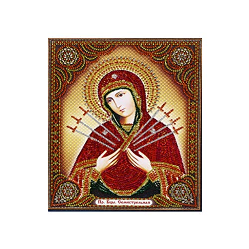 Virgin Mary Religion Jesus 5D Diamond Painting Full Drill Kits Prime,Handmade Sticker Rhinestone Embroidery Cross Stitch Craft for Home Wall Decor]()
