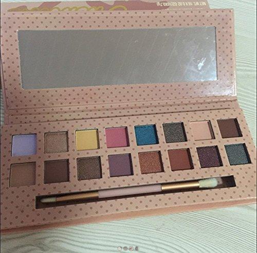 - elegantstunning 16 Nude Colors Eyeshadow with Long Brush, Long-lasting Makeup Shadow Powder