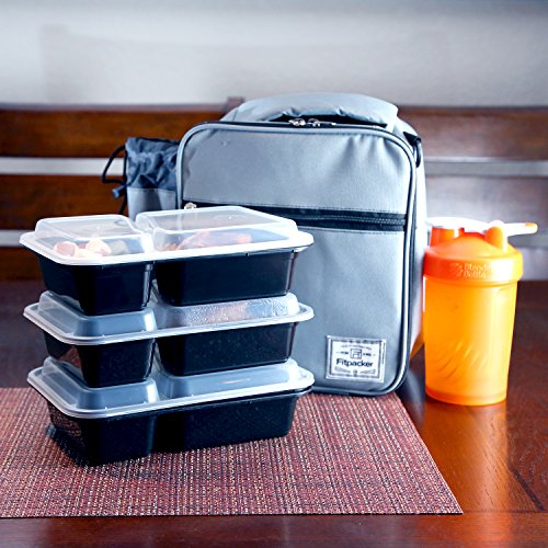 fitpacker duo 2 compartment meal prep containers reusable with lids microwave and dishwasher. Black Bedroom Furniture Sets. Home Design Ideas