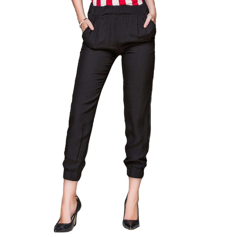 Sarah Dean Women's Fashionable Loose Black pants