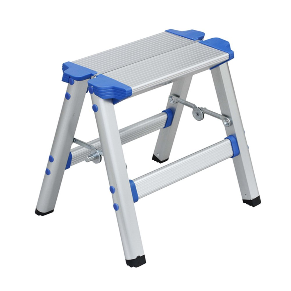 LXLA- Aluminum Alloy Scissors Ladder With Handrail Folding 2-Step Stool Thicken Multifunction Footstool For Home, Workshop, Garage