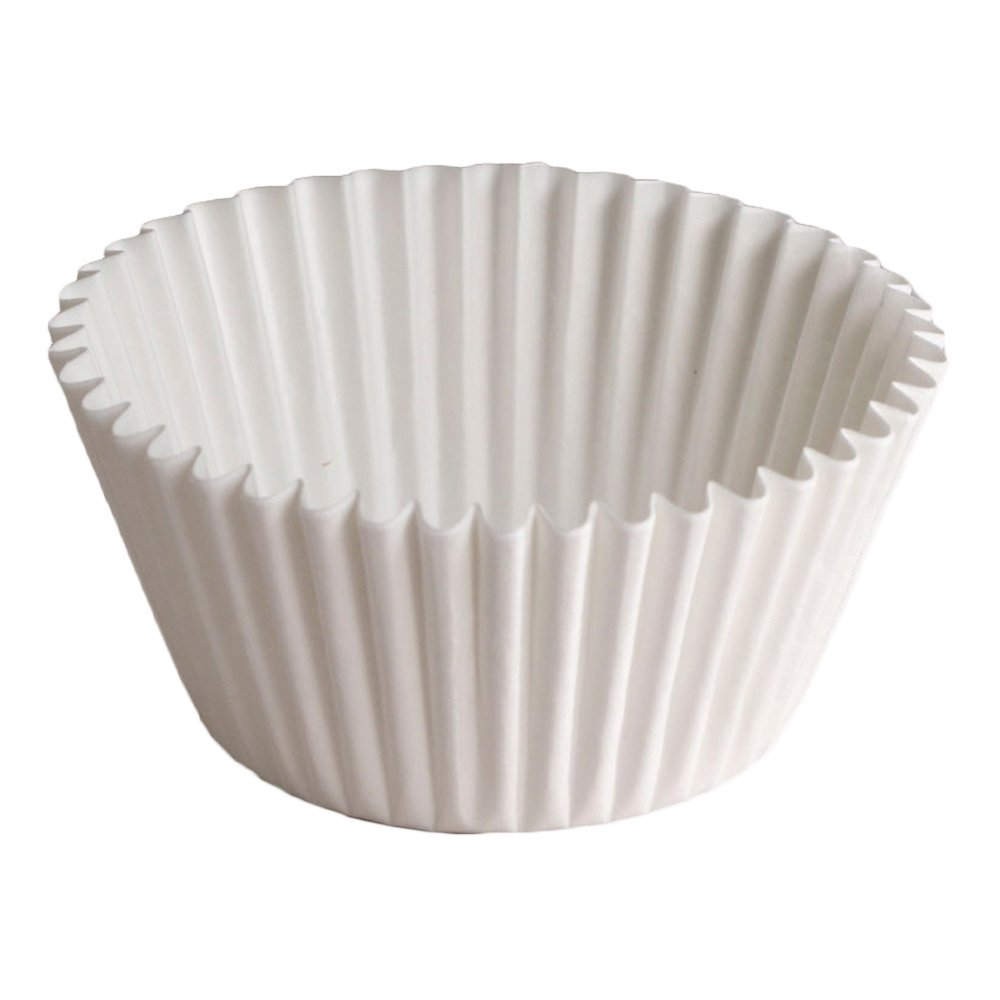 Hoffmaster BL200-5-1/2 Fluted Bake Cup, 3-1/2-Ounce Capacity, 5-1/2'' Diameter x 1-3/4'' Height, White (20 Packs of 500)