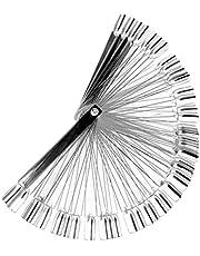 Bullidea 50 Pcs Transparent Plastic False Nail Art Tips Sticks polish Display Fan Practice Salon Starter Kit