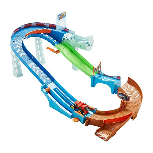 Blaze and the Monster Machines Flip and Race Speedway Playset, New and Available.