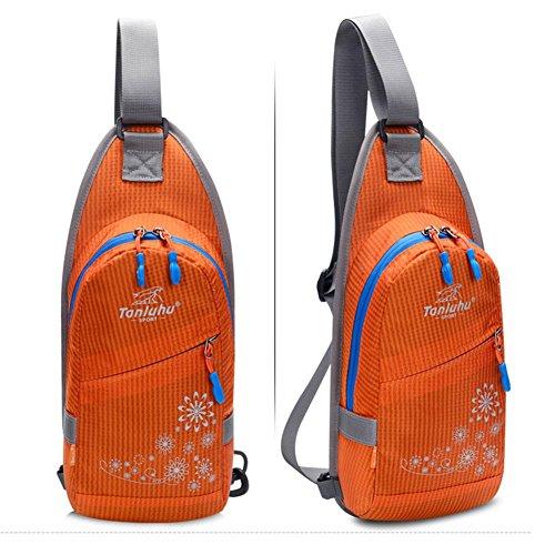 donna Ride School Impermeabile da e Travel di Chest Backpack uomo Bike grande Usable rosso Borsa Leisure Nylon Climbing da Jbaod capienza arancio va8qnSwxI