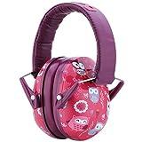 Snug Kids Earmuffs/Hearing Protectors – Adjustable Headband Ear Defenders for Children and Adults (Owls)