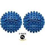 Body Back Company's Foot Star 2 Inch Acupressure Spiky Massage Ball Fascia Roller for Plantar Fasciitis Treatment, Self Myofascial Release, Arch Support, Muscle Pain Relief, Heel Spurs, Arthritis Hand Cramps and Portable Handheld Trigger Point Therapy - (Blue Set 2-pack Footstar)