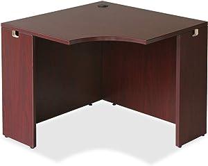 Lorell Corner Desk, Mahogany, 36 by 42 by 29-1/2-Inch