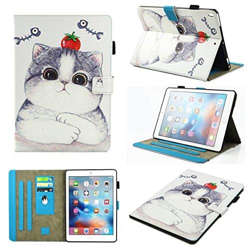 inShang iPad iPad Pro 10.5 Fundas soporte y carcasa para iPad Pro 10.5 inch ((2017 Release) , smart cover PU Funda con Patrón de Diamante + clase alta 2 in 1 inShang marca negocio Stylus pluma Tomato and Cat