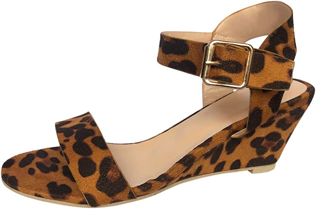 leopard womens sandals