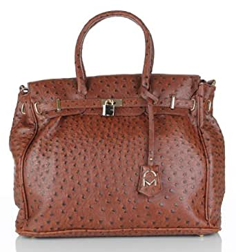 Noble Mount London Office Tote - Ostrich Brown