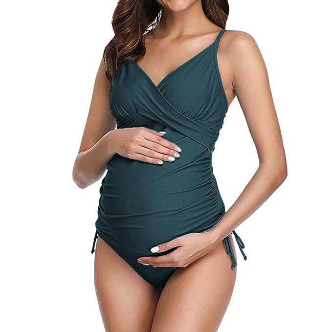 Sallydream_mama Traje de baño Mujer Maternidad Premamá para ...