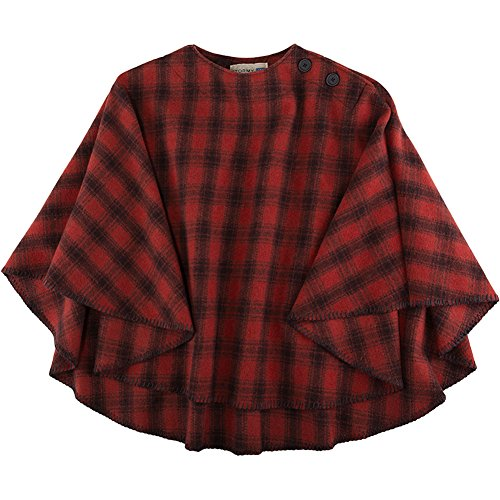 Stormy Kromer Womens Huron Red/Black Plaid Poncho - One Size Fits All by Stormy Kromer