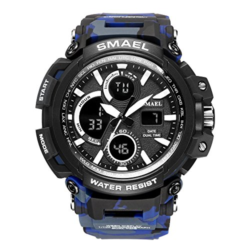 Men's Digital Sports Waterproof Watch Multi-Function Military Electronic Watch LED Backlight