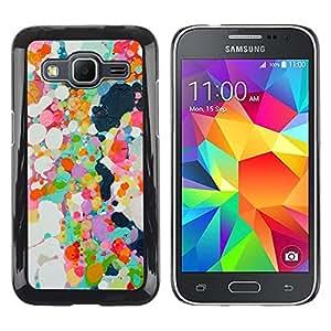Be Good Phone Accessory // Dura Cáscara cubierta Protectora Caso Carcasa Funda de Protección para Samsung Galaxy Core Prime SM-G360 // Abstract Paint Oil Spots Colorful Spring