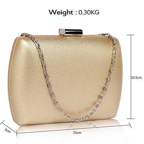 Ladies Women Wedding Handbag Clubs Glossy Parties Evening For Bag 1 With Designer Gold Box Design Chain Clutch qgOqwI41