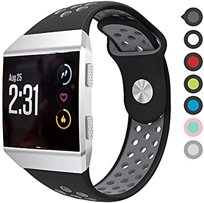 Meifox Fitbit Ionic Bands, Soft Silicone Replacement Strap