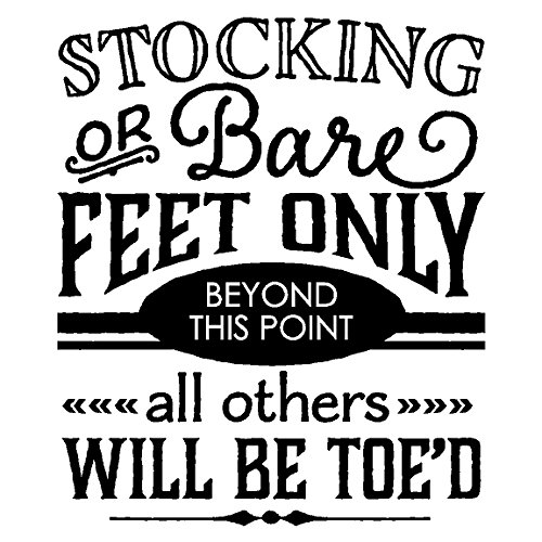 Stocking Or Bare Feet Only...Remove Shoes Entryway Home Wall Decal Foyer Quote Vinyl Words Sayings Removable Home Lettering, Black 12