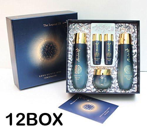 [HWANG HOOBIN] ローヤルゼリー3pcs(5item) セット X 12BOX/Royal Jelly 3pcs(5item) set X 12BOX/トナー、エマルジョン、クリーム+サンプル/韓国化粧品/toner, Emulsion, Cream + Sample/Korean Cosmetics [並行輸入品]