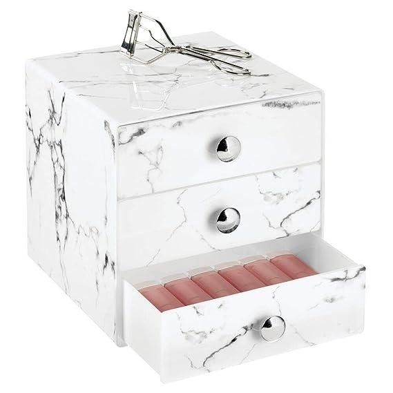 mDesign Organizador de maquillaje - Cajas de belleza con 3 ...