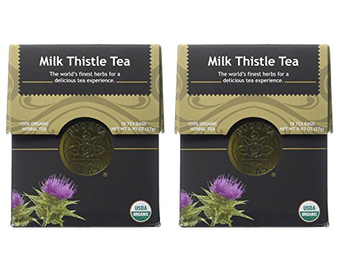 Organic Milk Thistle Tea - Kosher, Caffeine Free, GMO-Free - 18 Bleach Free Tea Bags (Pack of 2)