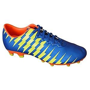 Vizari Men's Bolt FG Soccer Shoe, Blue/Yellow/Orange, 9 M US