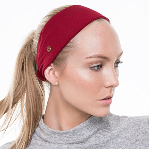 BLOM 10-in-1 Headband for Sports or Fashion. Happy Head Guarantee - Super Comfortable. Red.