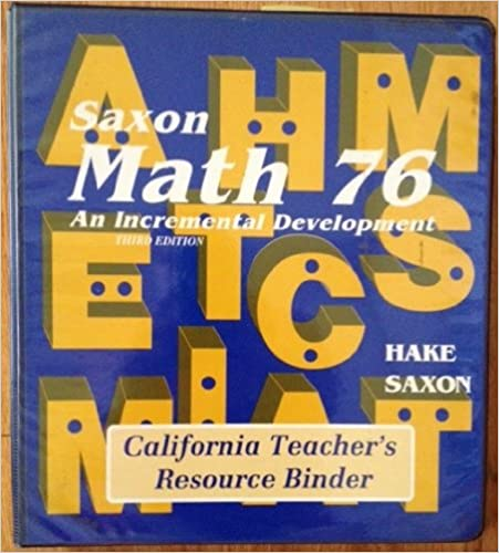 Free classic books saxon math 76 3e teacher resource binder saxon saxon math 76 3e teacher resource binder saxon math 76 fandeluxe Gallery