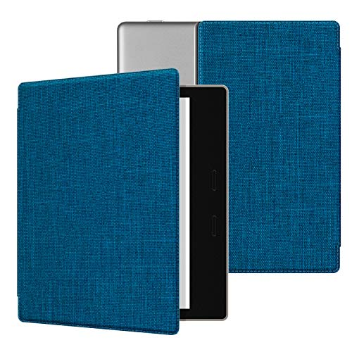 "Ayotu Fabric Case for All-New 7"" Kindle Oasis (10th Gen, 2019 Release& 9th Gen, 2017 Release) Thinnest and Lightest, Strong Adsorption and Durable Soft Fabric Cover with Auto Wake/Sleep,Blue"
