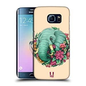 Head Case Designs Elephant Flora and Fauna Protective Snap-on Hard Back Case Cover for Samsung Galaxy S6 edge G925
