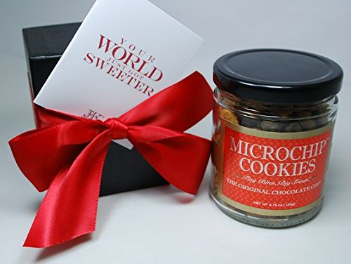 The World's Tiniest, Most Irresistible Chocolate Chip Cookies - Be The Party Favorite & Give The Gift Of Gourmet Microchips - 5oz Fresh Mini Cookies In Gift Box - Small Batch Handmade In Texas
