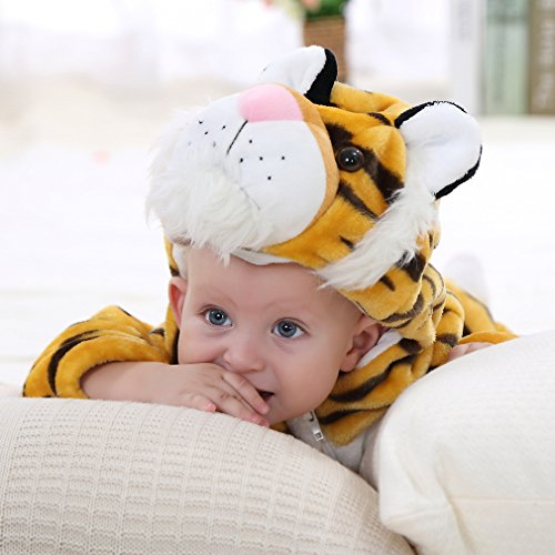 IDGIRL baby girls and boys' Flannel Cotton rompers Tiger-100CM Tiger 19-24 Months by IDGIRL (Image #7)