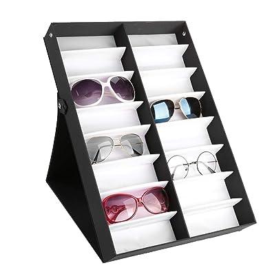 Caja para Relojes Soporte para Gafas Expositor - 16 Ranuras ...