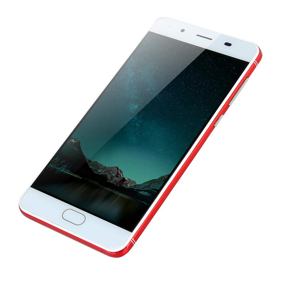 Smartphone Unlocked Cell Phones 5.0''Ultrathin Android 5.1 Quad-Core 512MB+512MB GSM WiFi Dual SIM Smartphone (1 PC, Red)