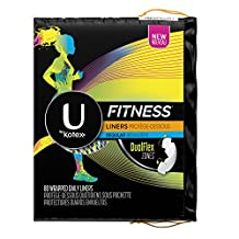 U By Kotex Fitness Panty Liners, Light Absorbency/Regular-Unscented, 80-Count