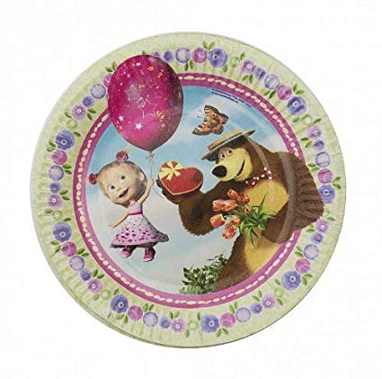 Masha and the Bear 6psc plate childrens holiday party whistle (7inch) TABLE PARTY TREATS supplies favors birthday