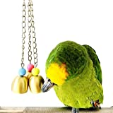 Mrli Pet Parrot Bell Toy, Bird Chew Toys with