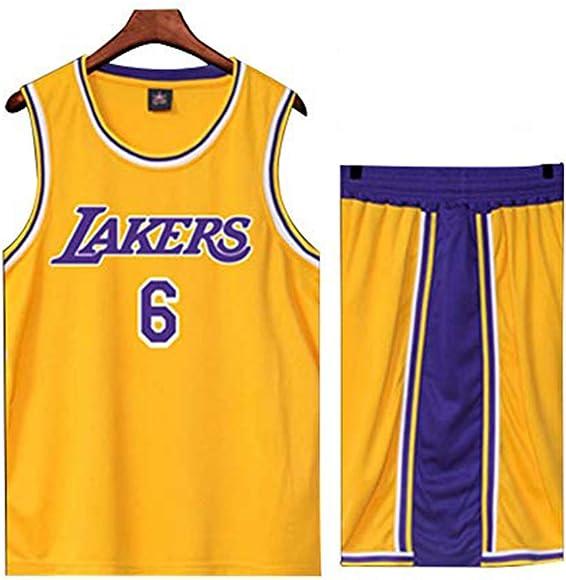 Lakers James No. 23 traje de baloncesto uniforme masculino n.º 24 ...
