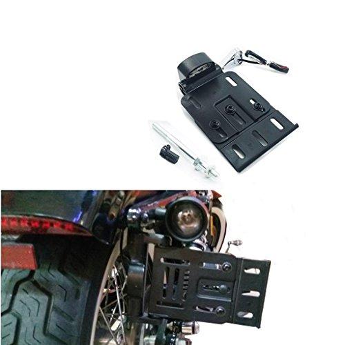 (Folding Side Mount LED License Plate Light Bracket For Harley Sportster XL)