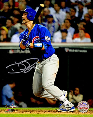David Ross Signed Chicago Cubs 2016 World Series Game 7 Last Career At Bat HR 8x10 Photo