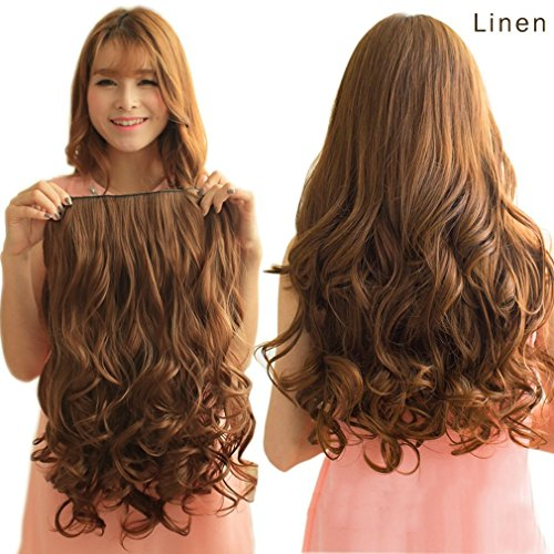 "REECHO 16"" 1-Pack 3/4 Full Head Curly Wavy Clips in on Synth"