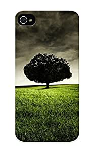 Flexible Tpu Back Case Cover For Iphone 5/5s - Lone Oak Under Cloudy Sky