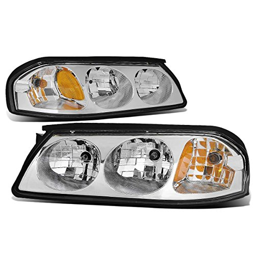 For Chevy Impala 8th Gen Pair of Chrome Housing Amber Corner Headlight ()